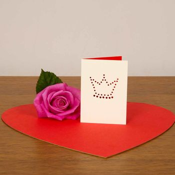 Valentine Card With King's Crown