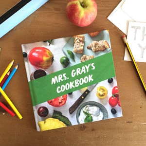 Personalised Thank You Teacher Cookbook