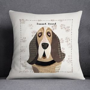 Basset Hound Personalised Dog Cushion Cover - beds & sleeping