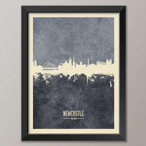 Newcastle Skyline Print And Box Canvas