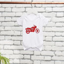 Personalised Motorbike Baby Grow