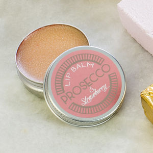 Prosecco And Strawberry Lip Balm Gift - stocking fillers under £15