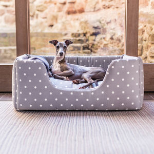 Charley Chau Deep Sided Dog Bed In Cotton - beds & sleeping