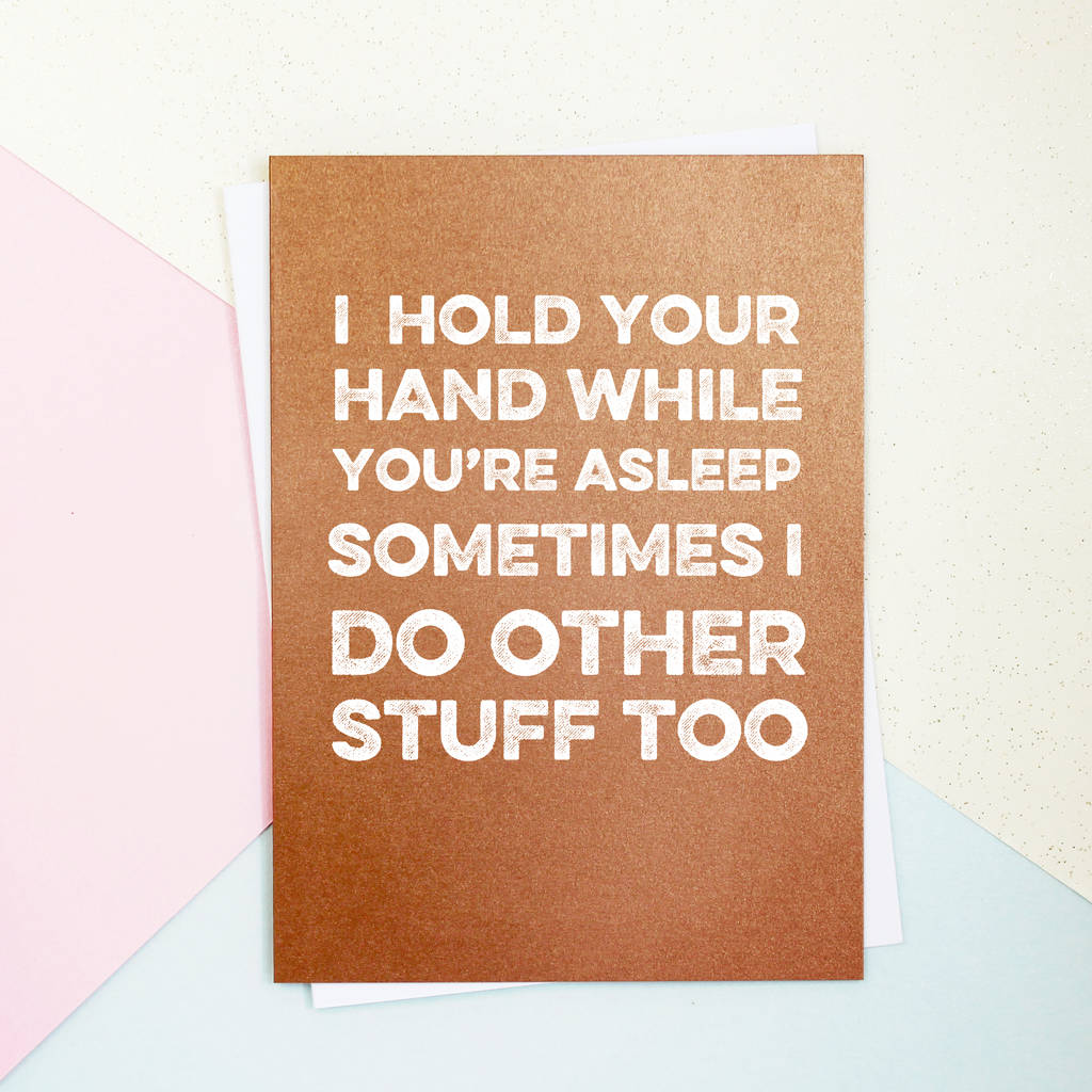 Hold Your Hand Valentine's Day Card