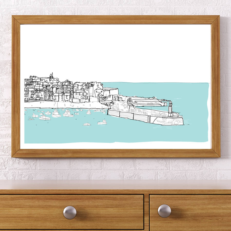 St Ives Signed Print