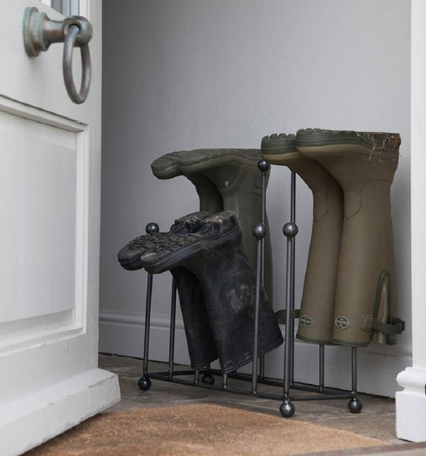 Perfect Free Coat And Boot Rack Image: Welly Boot Stand By Garden Selections
