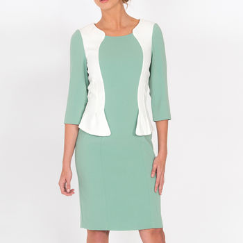Andalucia Pencil Dress Mint White