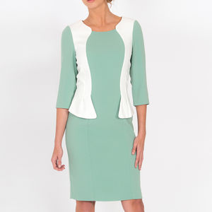 Andalucia Pencil Dress Mint White - dresses