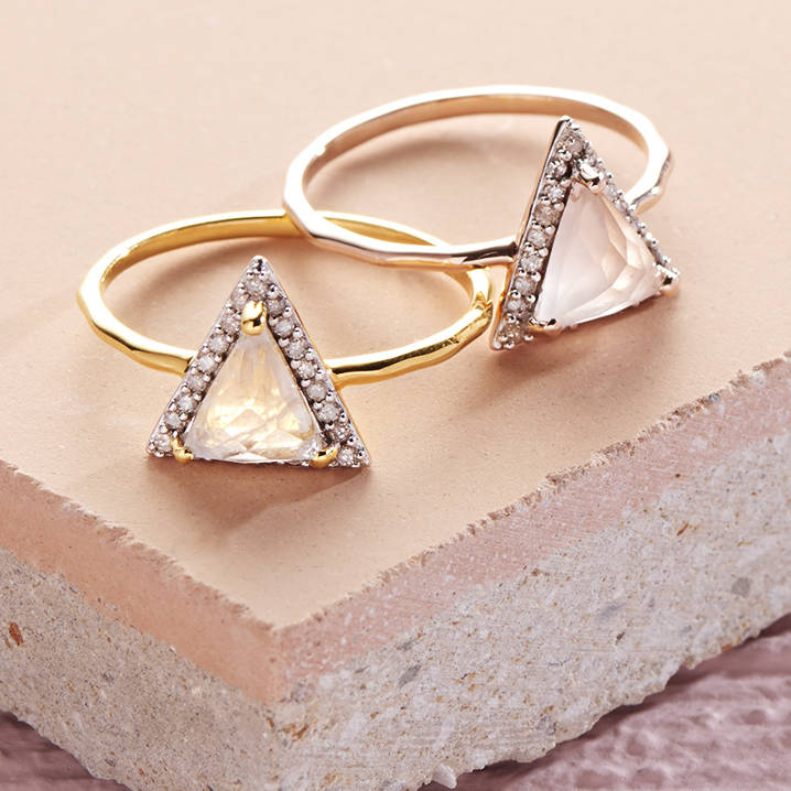 rose and with time mothers stud pyramid yellow stacking diamond birthstone ring gold