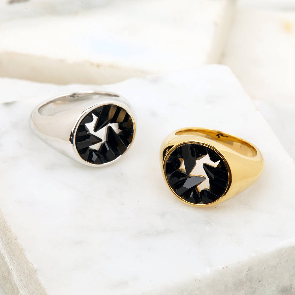 Onyx Signet Ring by Kasun London