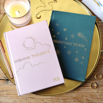 Personalised Two Way 'Morning And Night' Notebook