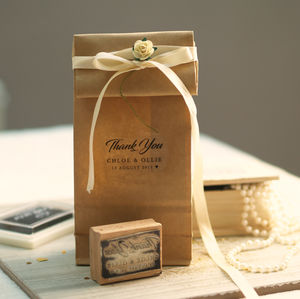 Personalised 'Thank You…' Rubber Stamp - ribbon & wrap