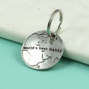 World's Best Daddy Gift Pewter Keyring