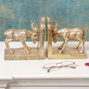 Golden Stag Bookends