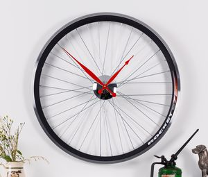 Racing Bike Wheel Clock In Two Sizes - clocks