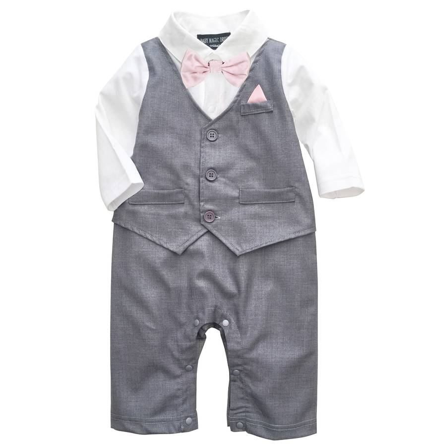 baby boy's all in one outfit suit by baby magic dress ...