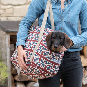 Linen Dog Carrier