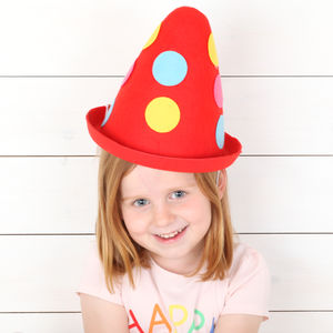 Felt Clown Oversized Party Hat