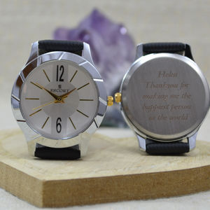 Contemporary Engraved Ladies Wrist Watch