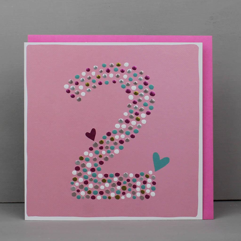 2nd Birthday Card For Boy Or Girl
