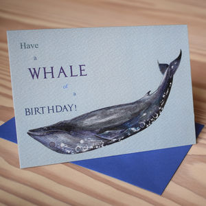 Blue Whale Birthday Card - view all gifts