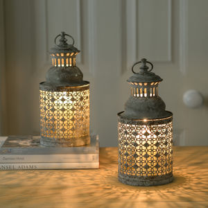 The Amalfi Lattice Garden Candle Lantern