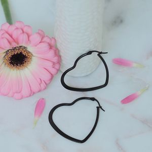 Heart Hooped Earrings