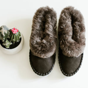 Men's Grey Moccasin Sheepers