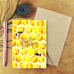 Happ Bee Birthday Greetings Card