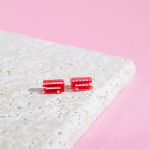 London Bus Earrings - earrings