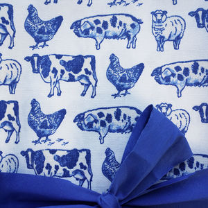 'Farm Animals' Cotton Fabric By The Meter