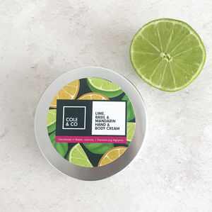 Lime, Mandarin And Basil Hand And Body Cream - new in health & beauty