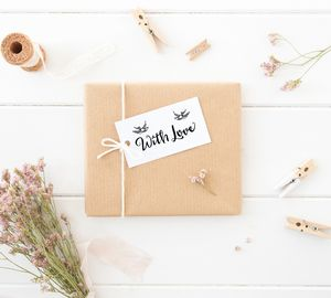 'With Love' Wooden Stamp - mother's day cards & wrap