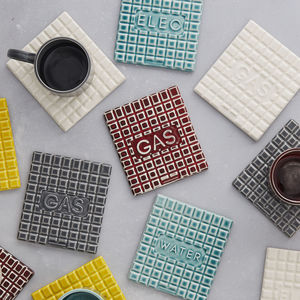Manhole Cover Shaped Coasters X Three, Free Delivery - placemats & coasters