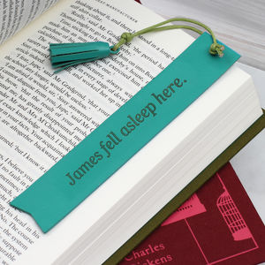 Personalised Italian Leather Bookmark - bookmarks