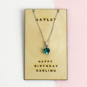 Birthstone Personalised Sterling Silver Necklace - women's jewellery