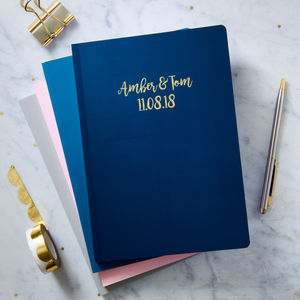 Personalised Gold Foil A5 Notebook - stationery-lover