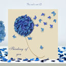Butterfly Thinking Of You Card, Hydrangea Card