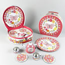 Children's Tin Butterfly Tea Set In Illustrated Case