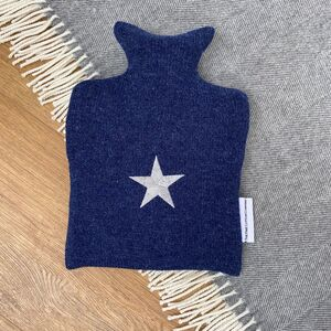 Embroidered Star Design Hot Water Bottle