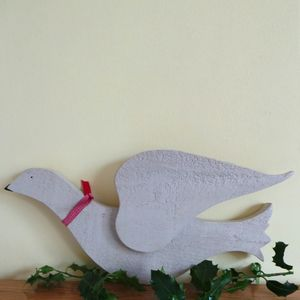 Decorative Christmas Dove Made From Reclaimed Wood