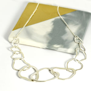 Handmade Sterling Silver Cloud Necklace