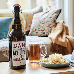 Personalised Valentines Four Pint Magnum Of Beer - gifts for him