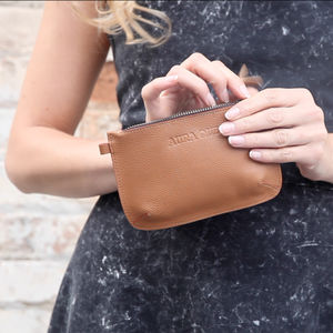 Leather Pari Zip Purse