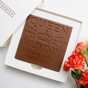 Personalised 'Queen Mum' Birthday Chocolate Card - novelty chocolates