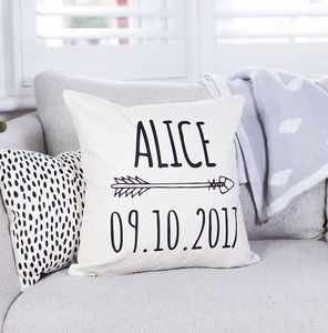 Personalised Arrow Nursery Cushion - cushions