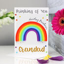 Personalised Rainbow Thinking Of You Card