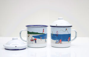 Beach Enamel Mug - mugs