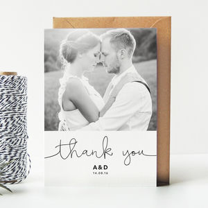 Kate Wedding Photo Thank You Cards
