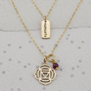 Selection Gold Yoga Chakra Necklaces - sport-lover